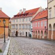 Prague, ancient narrow streets in a historical part of the city — Stock Photo
