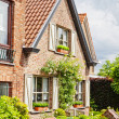 Beautiful rural, brick house in the Dutch style — Stock Photo #13578985
