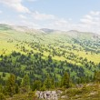 Stock Photo: View from mountains peak. Altai, Siberia