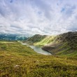 Beautiful mountain landscape with greater lake, Altai — Stock Photo