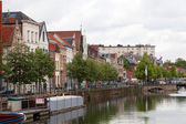 MECHELEN, BELGIUM - JUNE 7: View of the embankment, on June 07, 2012 in Mechelen, Belgium. Mechelen - the city in Flanders, in the province Antwerp. The city is locat — Stock Photo
