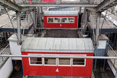 Red cabins on a big wheel in Vienna — Stock Photo