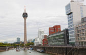 Panorama of city center of Dusseldorf, Germany — Stock Photo