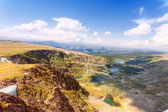 Top view of Karakol lakes in Altai mountains. Altai, Suberia — Stock Photo