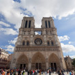 PARIS, FRANCE - OCTOBER 2: Tourists visits Notre Dame cathedral on October 2, 2012 in Paris — Stock Photo