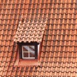 Tile roof with a window as a background — Stock Photo