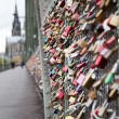 Stock Photo: Fidelity locks on railway bridge in Cologne