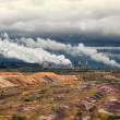 Thermal power plant against an open coal pit — Stock Photo #14080647