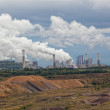 Thermal power plant against an open coal pit — Stock Photo