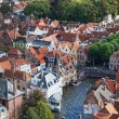 Stock Photo: Classic view of Bruges. Belgium. Medieval fairytale city. Summer urban