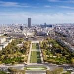 Top view from Eiffel tower on famous Champs de Mars. Paris. France — Stock Photo #14081046
