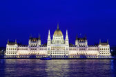 Parliament of Budapest, Hungary at night — Stock Photo