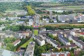 View of Dusseldorf from height of birds flight — Stock Photo