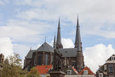 Old church in Delft, Holland, against the blue sky — Stock Photo