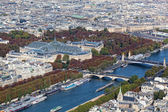 View of Paris from height of bird's flight — Stock Photo