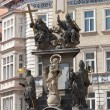 Plague column in Prague - Stock Photo
