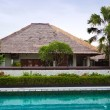 Swimming pool in hotel in tropics — Foto de stock #16274065