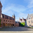Stock Photo: Medieval architecture in city of Bruges, Belgium