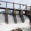 Stock Photo: Hydroelectric power plant generates electricity.