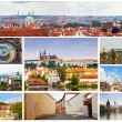 Card with day views of Prague - Foto Stock