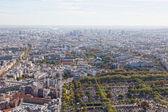 вид на париж с эйфелевой башни — Стоковое фото