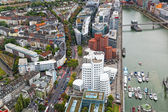 View of Dusseldorf from height of birds flight — Stock Photo