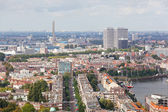 View of Rotterdam from height at night — Stock Photo
