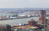 View of port in Rotterdam, the biggest port in Europe — Stock Photo