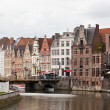 GHENT, BELGIUM - JUNE 13. Views of the historical downtown Ghent, Belgium, June 13, 1012. By quantity of historical monuments Ghent takes the second place in Belgium. — Stock Photo
