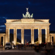 BERLIN, GERMANY SEPTEMBER 24: The Brandenburg Gate on September 24, 2012 in Berlin, Germany. The Brandenburg Gate is a former city gate and one of the most well-known landmarks of Berlin and Germany - Foto Stock