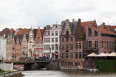 GHENT, BELGIUM - JUNE 13. Views of the historical downtown Ghent, Belgium, June 13, 2012. By quantity of historical monuments Ghent takes the second place in Belgium. — Stock Photo