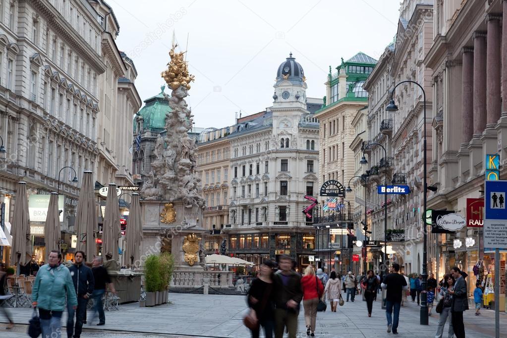 Viena ustria junho de 9 2012 turistas em p graben em - Office de tourisme de vienne autriche ...