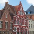 Architecture of the medieval city of Bruges, Belgium - Stock Photo