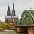 Royalty-Free Stock Photo: Wonderful view of Cologne over the Rhein river