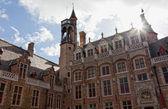 Antyczny architektura gotycka w brugii, belgia — Zdjęcie stockowe
