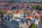 Top view to Bruges, Belgium — Stock Photo