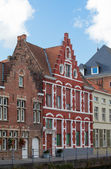 Architecture of the medieval city of Bruges, Belgium — 图库照片