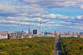 Vista del distrito central de berlín desde una plataforma de observación del día — Foto de Stock