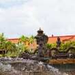 Fountains in the form of stone lions - traditional Buddhist culture to Bali — Photo