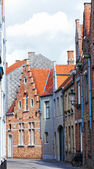 Medieval houses on streets of Bruges, Belgium — Stock Photo