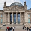 Tourists near Reichstag - Stockfoto