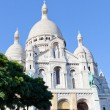 Sacre Coeur Basilica in summer day. - Stock Photo