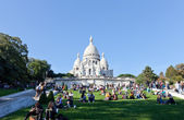 Sacre Coeur Basilica in summer day. — Stock Photo