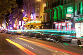 PARIS, FRANCE - Clichy at night, Paris, France. — Stock Photo
