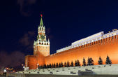 Spasskaya tower of Kremlin, night view. Moscow, Russia — Stock Photo