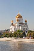 великолепный собор в честь христа спасителя в москве — Стоковое фото
