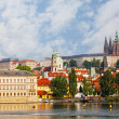 Stock Photo: Czech republic, Prague, look on Gradchanand VltavRiver