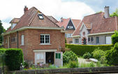 Beautiful rural, brick house in the Dutch style — Stock Photo