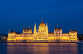 Parliament of Budapest, Hungary at night — Stock Photo