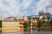 Czech republic, Prague, look on Gradchana and the Vltava River — Stock Photo